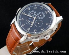 44MM Parnis black Dial Automatic mechanical multi-funtion WATCH