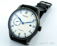 43mm Parnis PVD case white Special@9 automatic MECHANICAL Watch