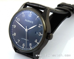 43mm Parnis PVD case Silver number Automatic MECHANICAL Watch