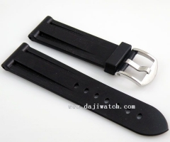 24mm black Rubber Strap