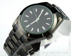 40MM PVD Case black dial Auto watch/sapphire