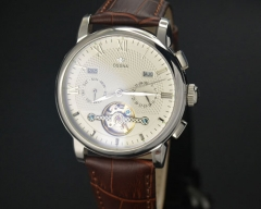 42mm wheel Automatic white dial Ossna Men Watch