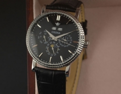 40mm Automatic black dial shining Bezel Ossna Men Watch
