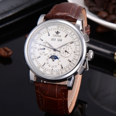 42mm Multifunction White Dial Automatic  Ossna Men Watch