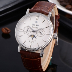 40mm Automatic white dial shining Bezel Ossna Men Watch