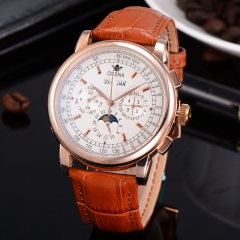42mm Ossna Automatic Movement Moon Phase Rose Gold WATCH