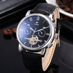42mm wheel Automatic black dial Ossna Men Watch