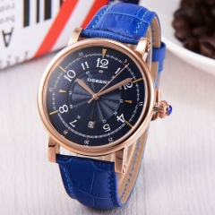 44mm Debert rose gold case blue Dial Automatic Miyota 8215 mens watch