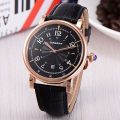 44mm Debert rose gold case black Dial Automatic Miyota 8215 mens watch