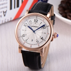 44mm Debert rose gold case white Dial Automatic Miyota 8215 mens watch