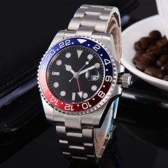 Sapphire Glass Dual time zone GMT Automatic Mechanical men's watch