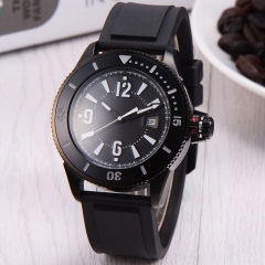 43mm BLIGER black dial PVD case SUB automatic mens watch