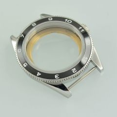 41mm black ceramic Bezel Sapphire Glass steel Case Fit ETA 2824 2836 Movement