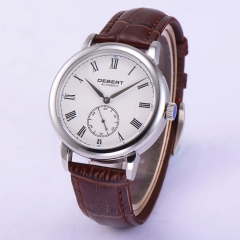 40mm Retro Debert White Dial sapphire glass Automatic Mechanical Mens Watch