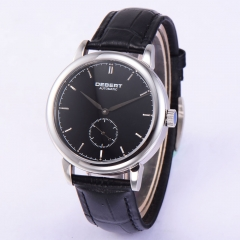 40mm Retro Debert black Dial sapphire glass Automatic Mechanical Mens Watch