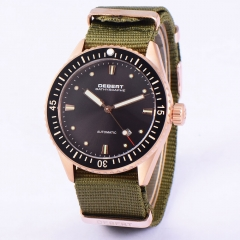 43mm Debert rose gold case ceramic bezel sapphire glass Automatic Men Watch