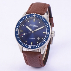 43mm Debert blue dial Automatic sapphire glass mechanical Watch