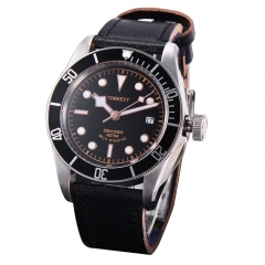 41mm Corgeut Black dial Sapphire Glass Automatic mechanical Men's Watch