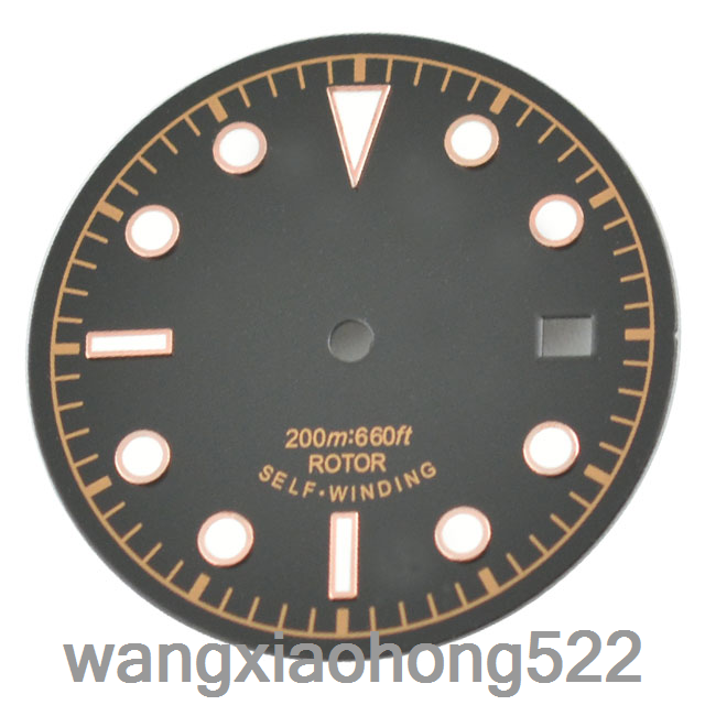 30.5mm Black Dial Luminous Watch Dial FIT ETA 2836 Mingzhu 2813 Movement