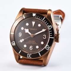 41mm Corgeut bronze PVD case Sapphire Glass Automatic mechanical Men's Watch