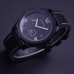 44mm Parnis black dial Sapphire glass Seagulls ST2530 Automatic Mens Watch