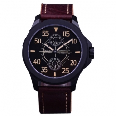 44mm Parnis black dial steel case Sapphire glass ST2542 Automatic Mens Watch