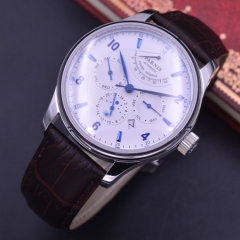 Parnis Sapphire Crystal Mens Watch Miyota Automatic Power Reserve Month Day Show