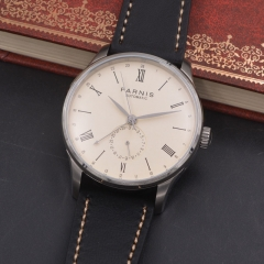 42mm Parnis off-white dial calendar mechanical automatic men watch Seagull Movement
