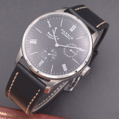 Parnis 42mm Power Reserve watch black dial date parnis Automatic mechanical men watch