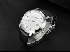 40mm Parnis White/black dial Sapphire glass Automatic movement men's wristwatch