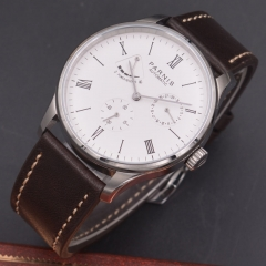 42mm Parnis white dial calendar Seagull Movement Automatic mechanical men watch Power Reserve