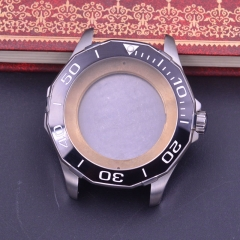 44mm Sapphire Glass ceramics Bezel Watch Case fit ETA 2824 2836 MOVEMENT