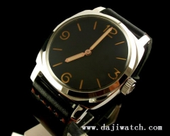47MM PARNIS orange number sandwich dial mechanical watch swan neck