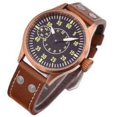 43mm Corgeut bronze case Sapphire glass luminous 6497 mechanical Men's Watch