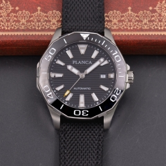 44mm PLANCA/Sterile dial watch Sapphire glass Ceramic bezel miyota Movement Luminous