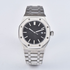 Royal Oak 41mm black sterile Dial Stainless Steel Japan MIYOTA Automatic Watch