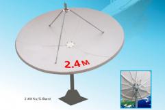 Alignsat 2.4M TVRO Fiber Glass Antenna