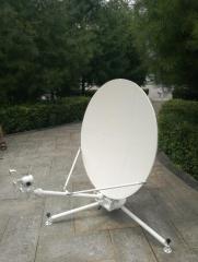 1.0m manual carbon fiber flyaway antenna to oversea customer