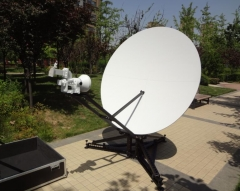 Alignsat delivered 1.8 Meter manual carbon fiber flyaway antenna to oversea customer