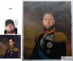 Custom oil portrait-Great men