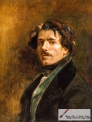 Self-portrait of Eugène Delacroix