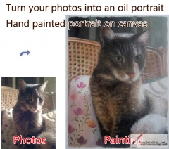 Custom Pet Portrait-Standing up cat