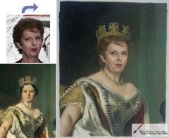 Custom oil portrait-Queen