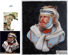 Custom oil portrait-A man in a lion's shawl
