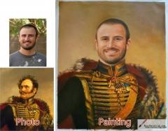 Custom oil portrait-Victorious general