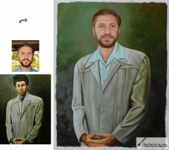 Custom oil portrait-Cross hands men