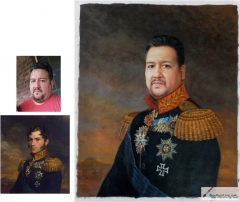 Custom oil portrait-A commanding general