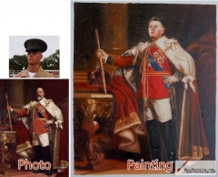 Custom oil portrait-General wearing a red robe