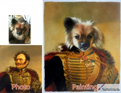Custom oil portrait-Dog general