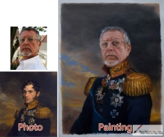 Custom oil portrait-Your own master painting-Paint your face on famous painting-Family portrait-Pet Portrait and etc